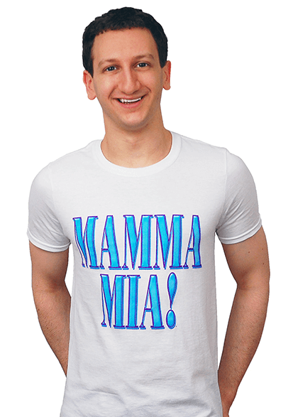 Mamma Mia! the Broadway Musical - White Logo T-Shirt